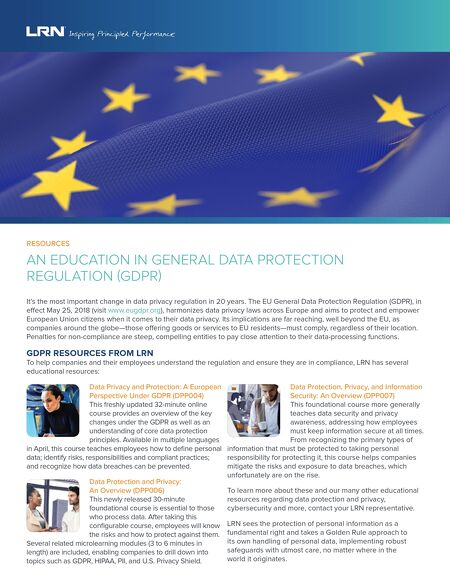 Gearing Up for GDPR - personal info sheets