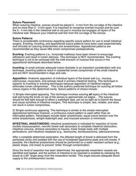 Conference Proceedings - 2013 OVMA Conference Proceedings