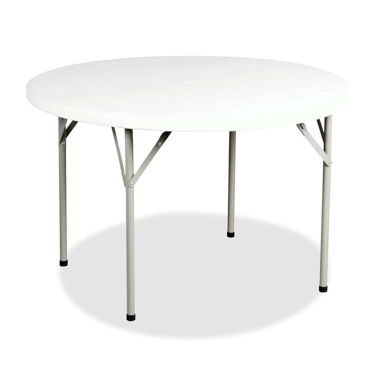 Table Polypropylène Heartwood Lightweight Polypropylene Round Folding Table Round Top X 60