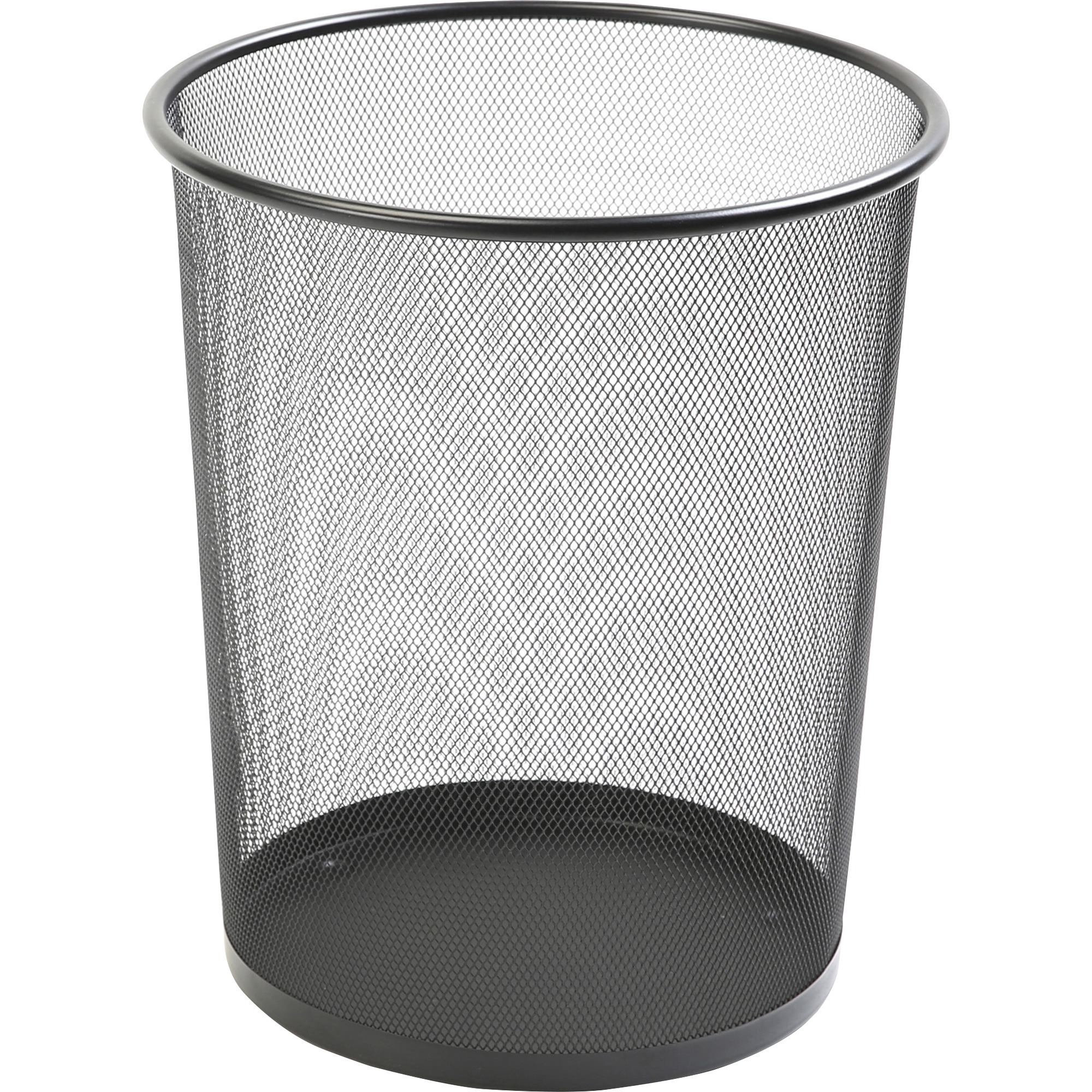 Black Metal Trash Can Lorell Black Mesh Round Waste Bin Madill The Office
