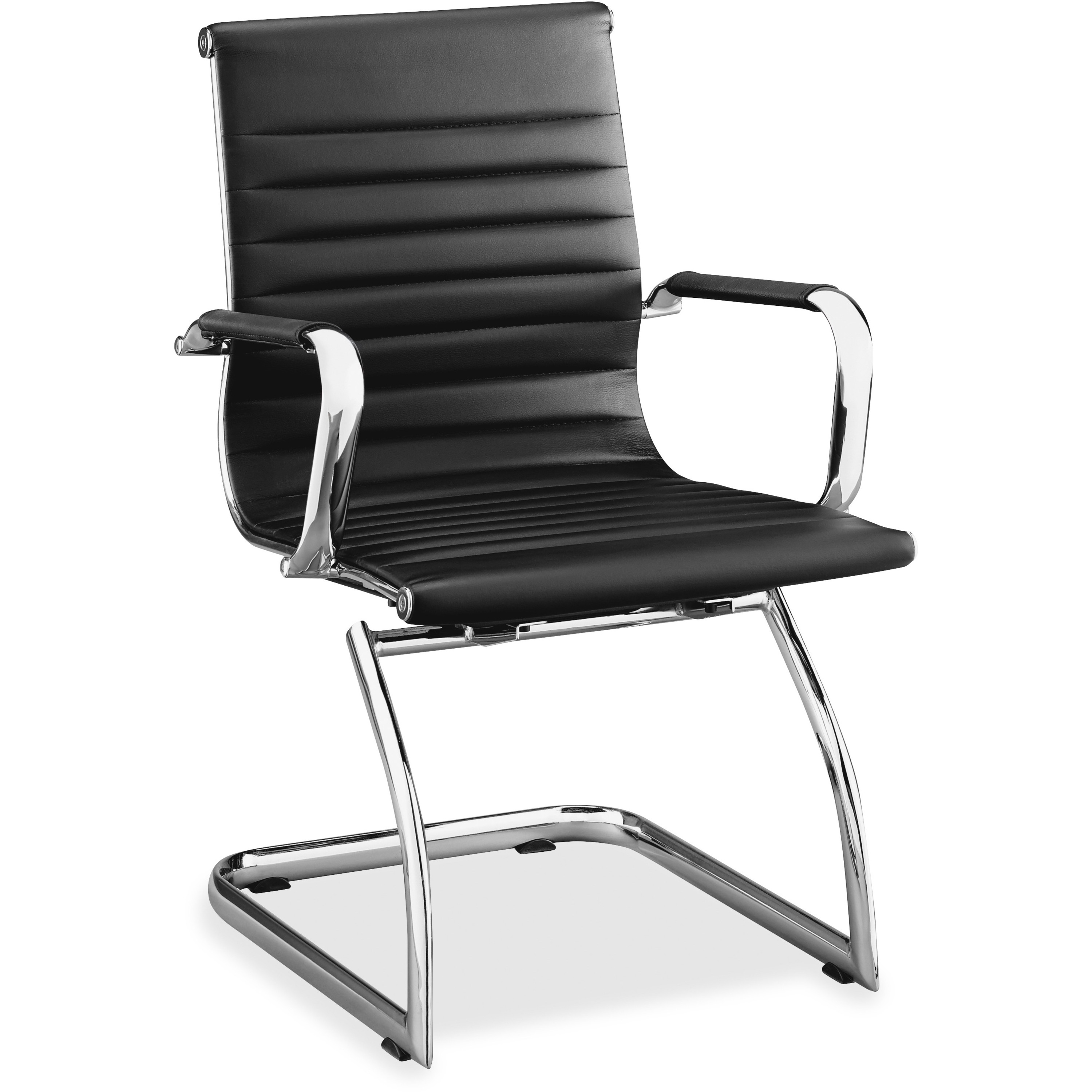 Llr 59539 Lorell Modern Chair Mid Back Leather Guest Chairs Lorell Furniture