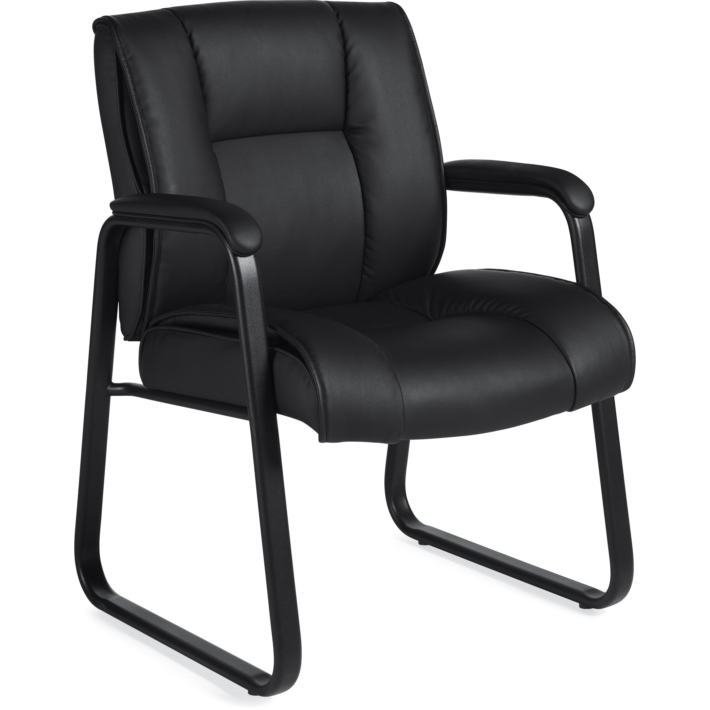 Tigerlily Concepts Inc Furniture Chairs Chair Mats Accessories Chairs Reception Side Guest Chairs Offices To Go Ashmont Medium Back Guest Chair Black Leather Seat