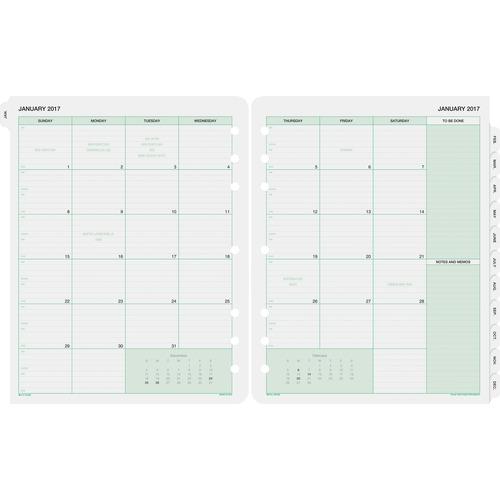 DTM 87329 Day-Timer 2PPM Planner Binder Monthly Refills DTM87329
