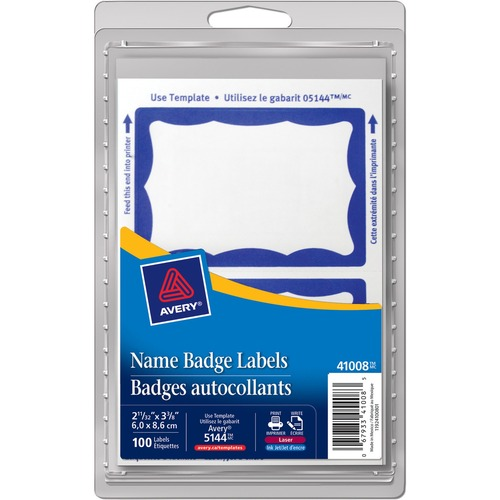 Avery Name Badge Label --AVE41008