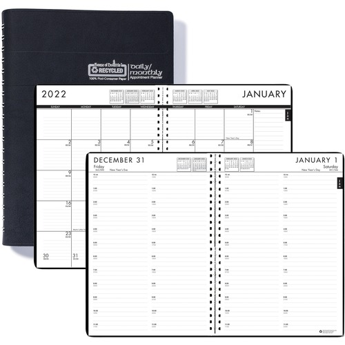 House of Doolittle Recycled Daily/Monthly 24/7 Appointment Planner