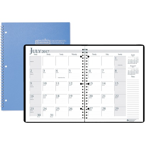 At-A-Glance DayMinder Monthly Academic Planner - Yes - Monthly - 12