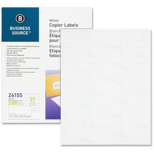 Business Source Copier Shipping Labels --BSN26155