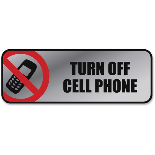 COS 098211 Cosco Turn Off Cell Phone Image/Message Sign COS098211 - Turn Off Cell Phone Sign
