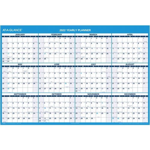 At-A-Glance Jumbo Erasable Yearly Wall Planner --AAGPM30028