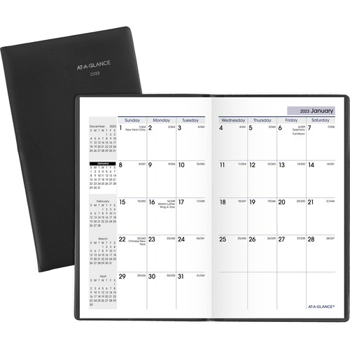 At-A-Glance DayMinder Monthly Pocket Planner - Yes - Monthly - 12