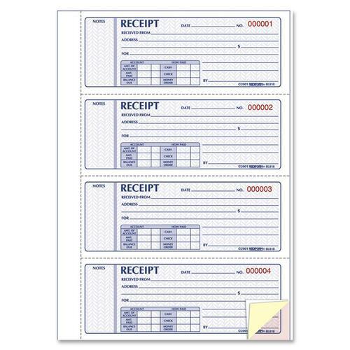 Rediform Hardbound Money Receipt Book - 200 Sheet(s) - 3 Part