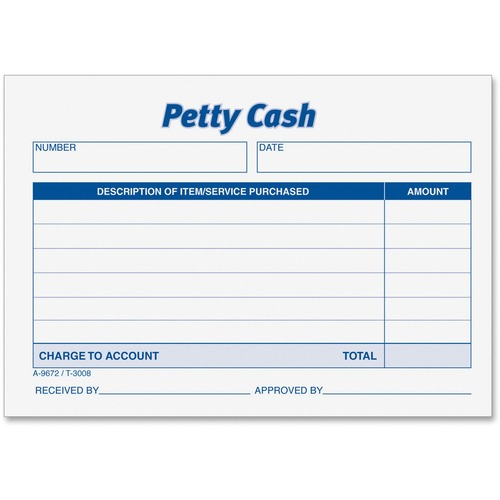 TOPS Received of Petty Cash Forms --TOP3008