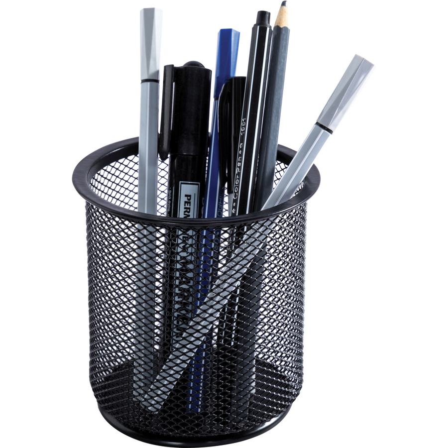 Pen Cup Holder Lorell Black Mesh Wire Pencil Cup Holder