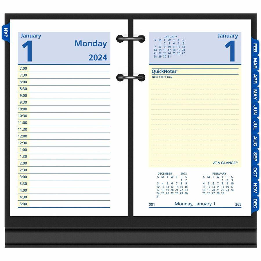 Wall Calendar Refills 12 X 24 Wall Calendars Calendars At A Glance At A Glance Quicknotes Daily Desk Calendar Refill