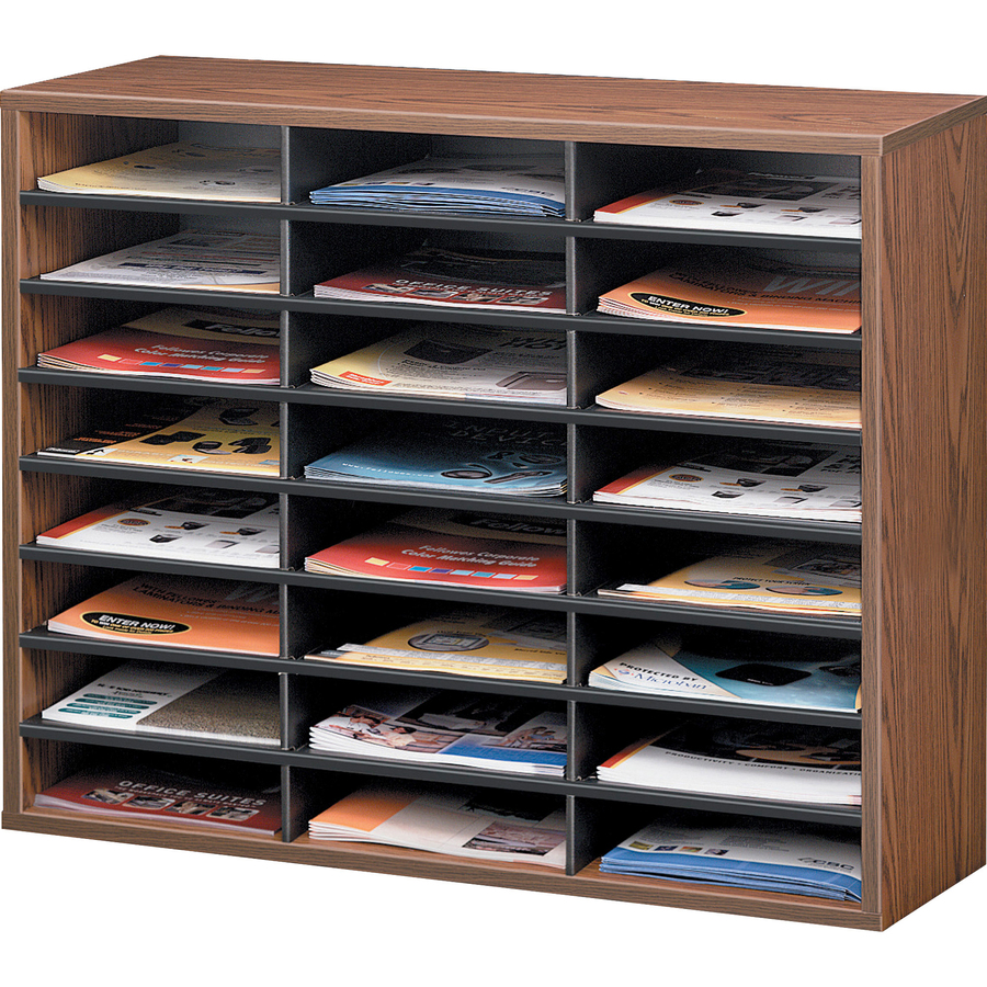 Literature Organizer Wood Fellowes Literature Organizer 24 Compartment Sorter
