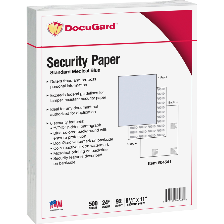 Bus 92 Paris Docugard Standard Security Paper For Printing Prescriptions Preventing Fraud 6 Features Letter 8 1 2