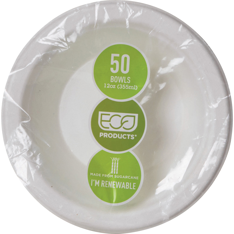 Microwave Safe Bowls Eco Products 12 Oz Sugarcane Bowls 12 Fl Oz Bowl Fiber Sugarcane Microwave Safe White 50 Piece S Pack