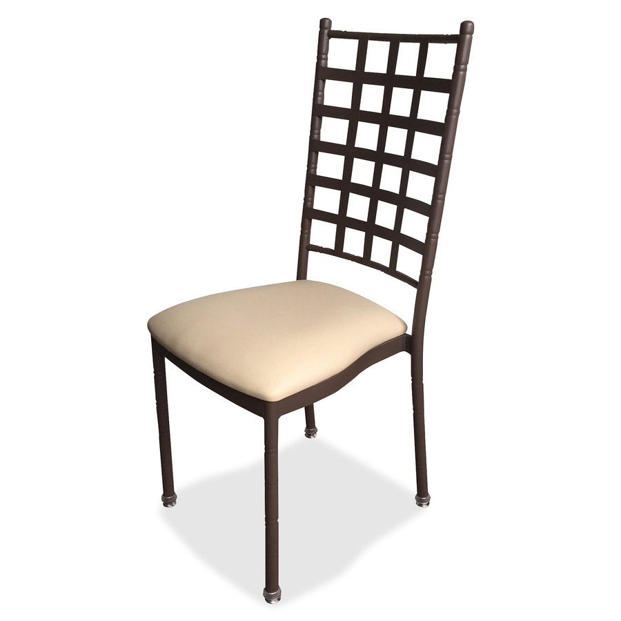 Hbcstkwbzbe Holland Bar Stools Stacking Chair Beige Vinyl Seat Bronze Frame 4 Carton Office Supply Hut