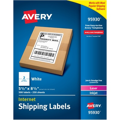 Avery® Bulk Shipping Labels - ICC Business Products - Office