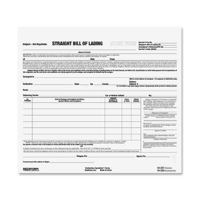 Rediform Snap-A-Way Bill of Lading Forms - ICC Business Products