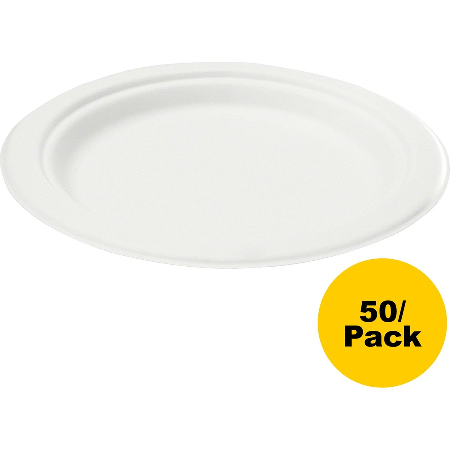 Microwave Plate Savannah Supplies Bagasse Disposable Plates 6