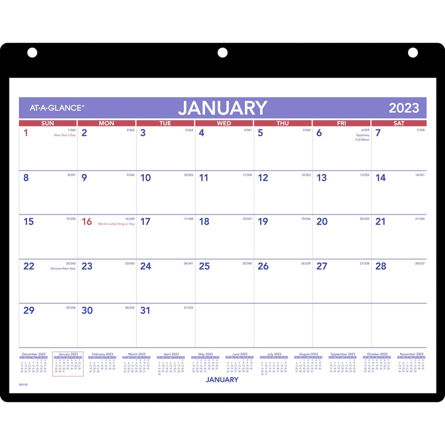 Wall Calendar With Julian Dates 3 Month Wall Calendar Staples Inc At A Glance Monthly Deskwall Calendar With Poly Holder