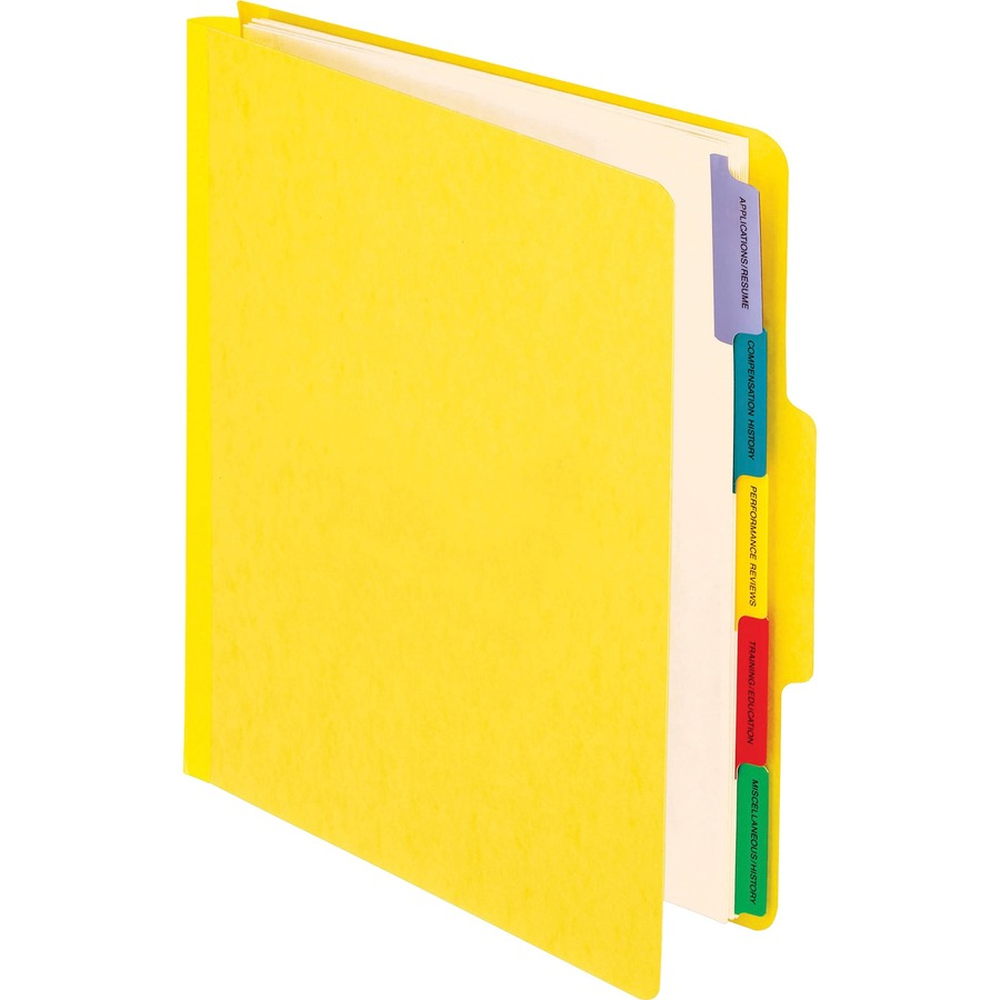 pendaflex employee personnel folders letter size yellow