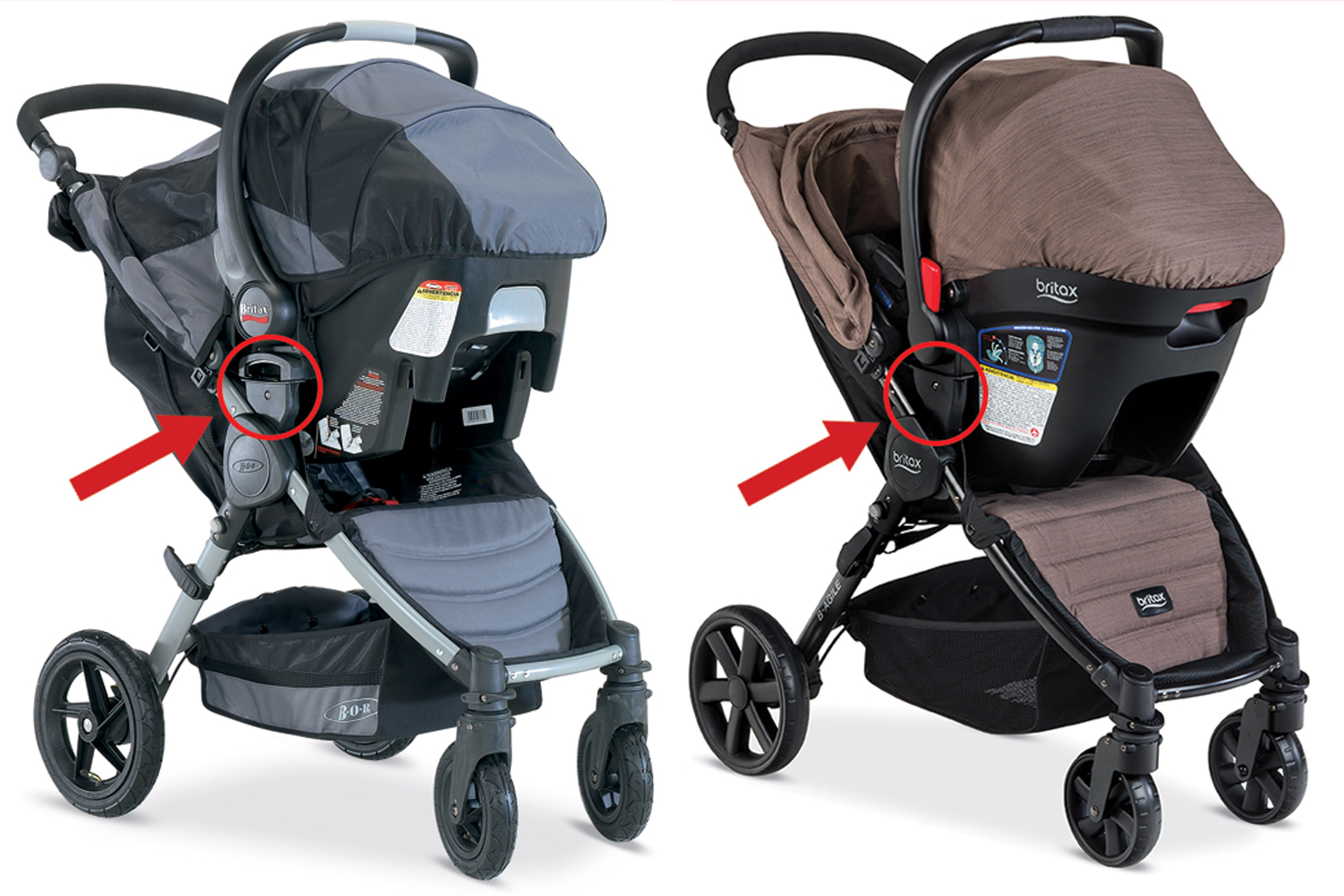 Britax Car Seat With Stroller Britax Recalls 700 000 Strollers Sold Over 6 Years After