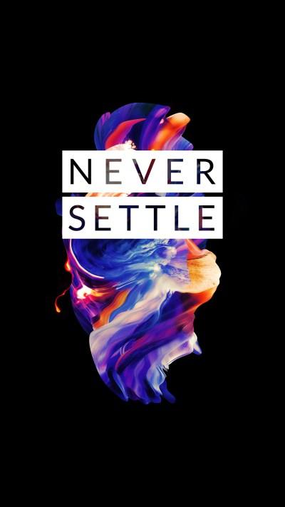 [1080x1920] OnePlus 5 - Never Settle : Amoledbackgrounds