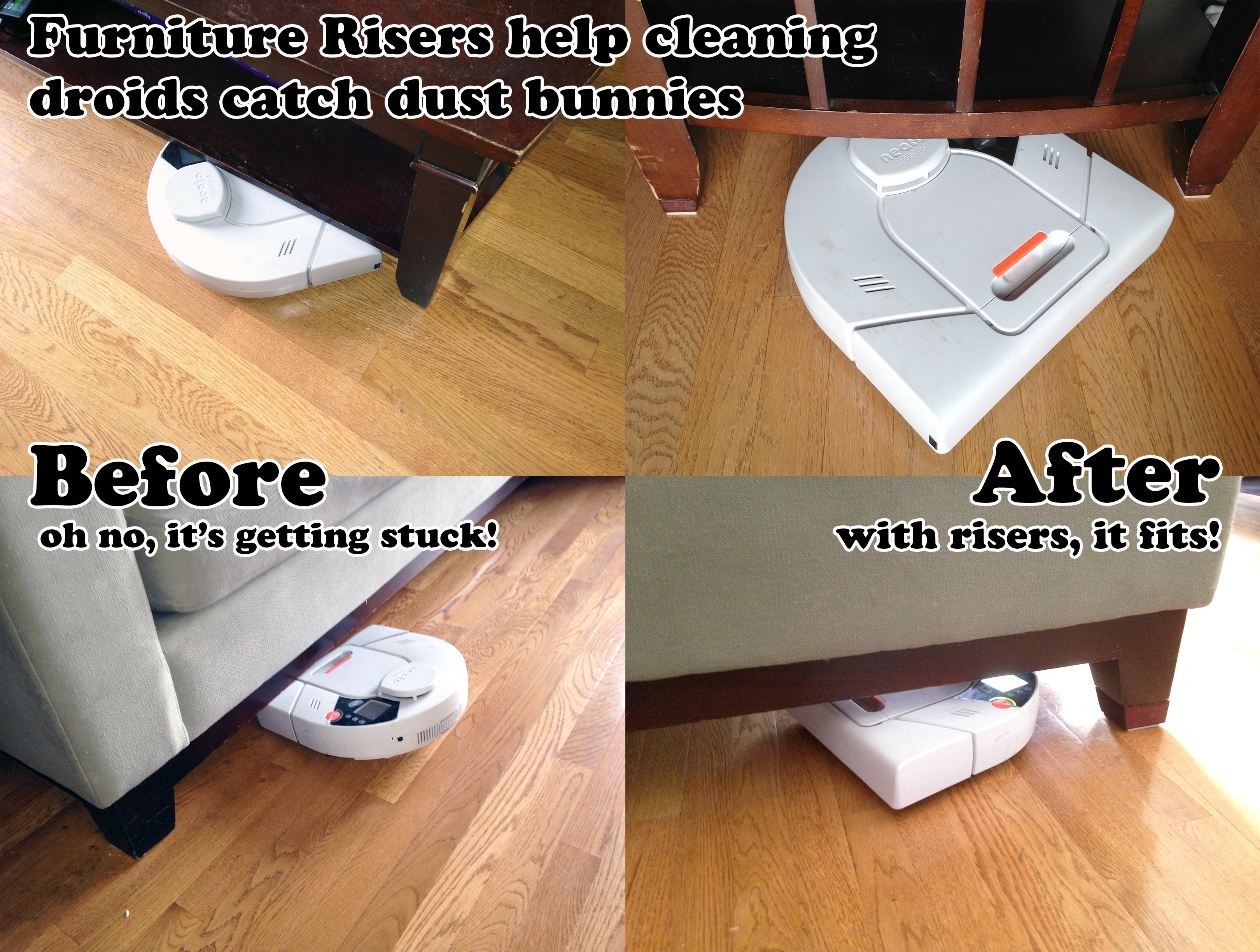 Furniture Risers Help Cleaning Droids Catch More Dust Bunnies Under The Sofa 8 Steps With Pictures Instructables