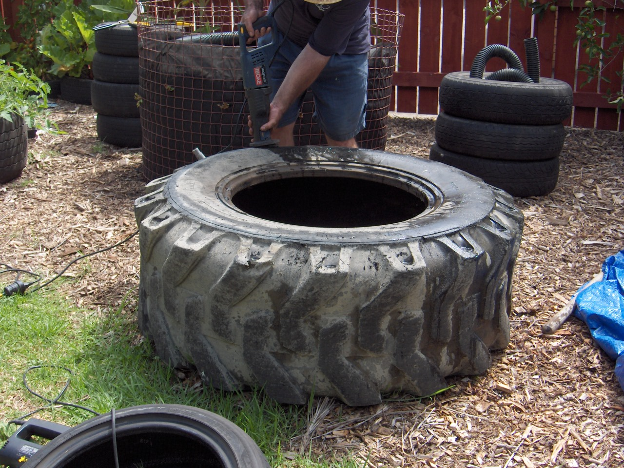Fish Pond From Tractor Or Car Tires 9 Steps With Pictures Instructables