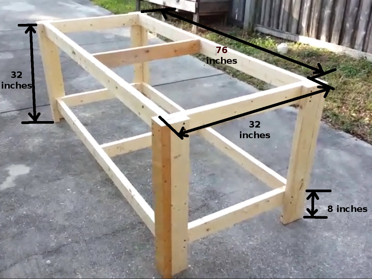 How To Build A Sturdy Workbench Inexpensively 5 Steps With Pictures Instructables