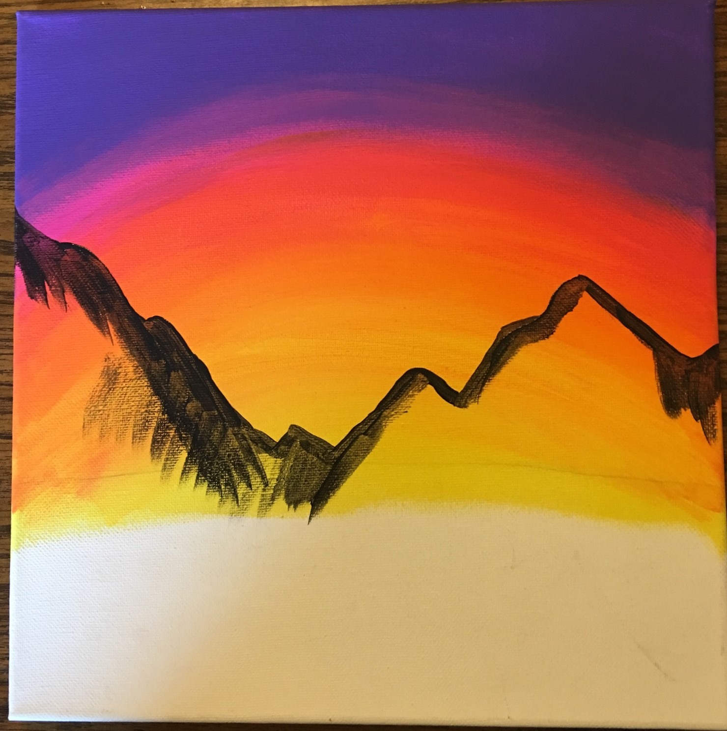 Paint A Mountain Sunset For Beginners 10 Steps With Pictures Instructables