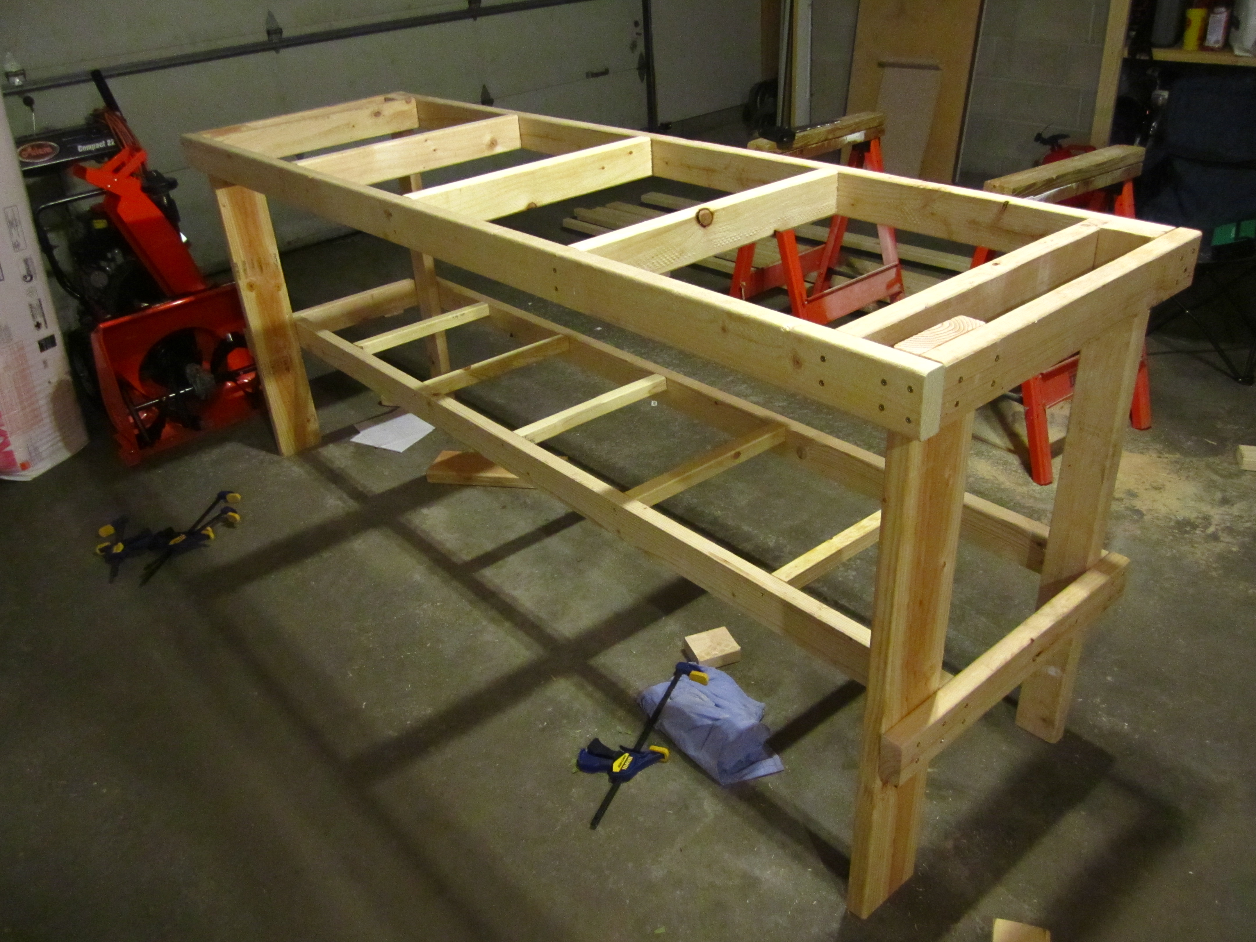 No Frills Workbench 4 Steps With Pictures Instructables