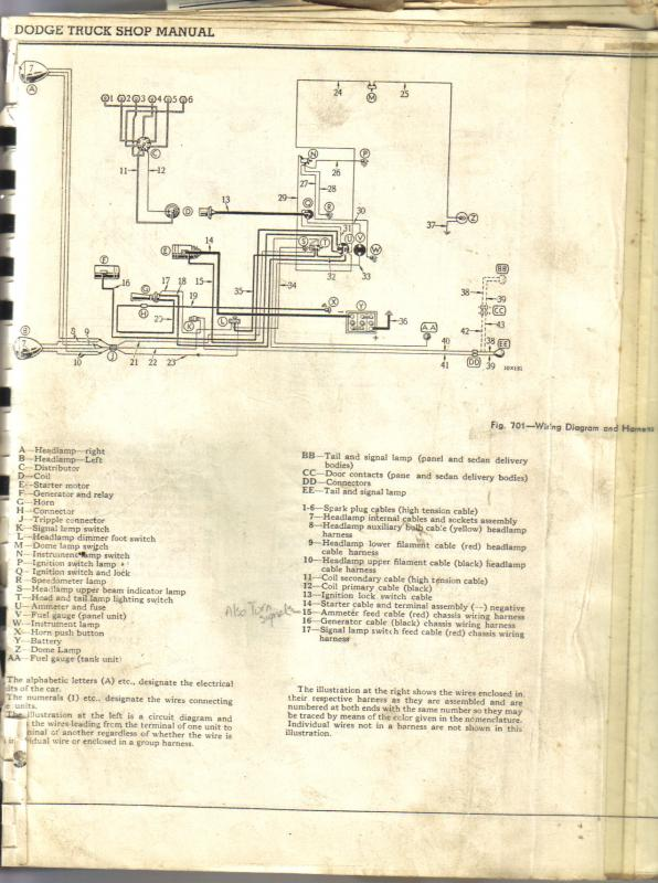 1937 Dodge pickup wiring diagram - Dodge Trucks - Antique Automobile