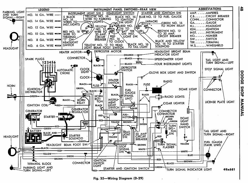 1958 Dodge Wiring Diagram - Wiring Diagram schematics