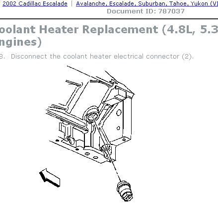 Block heater - Cadillac Escalade, EXT, ESV Help and Discussion Forum