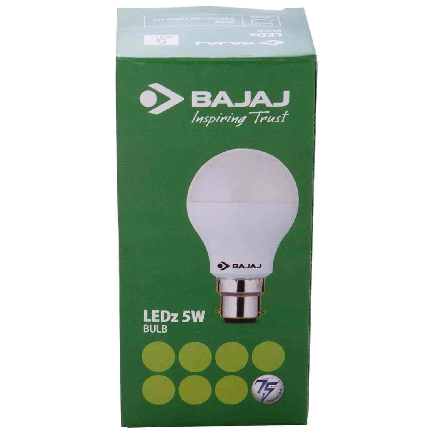 5 Watt Led Buy Bajaj Led Bulb 5 Watt Features Price Reviews Online In