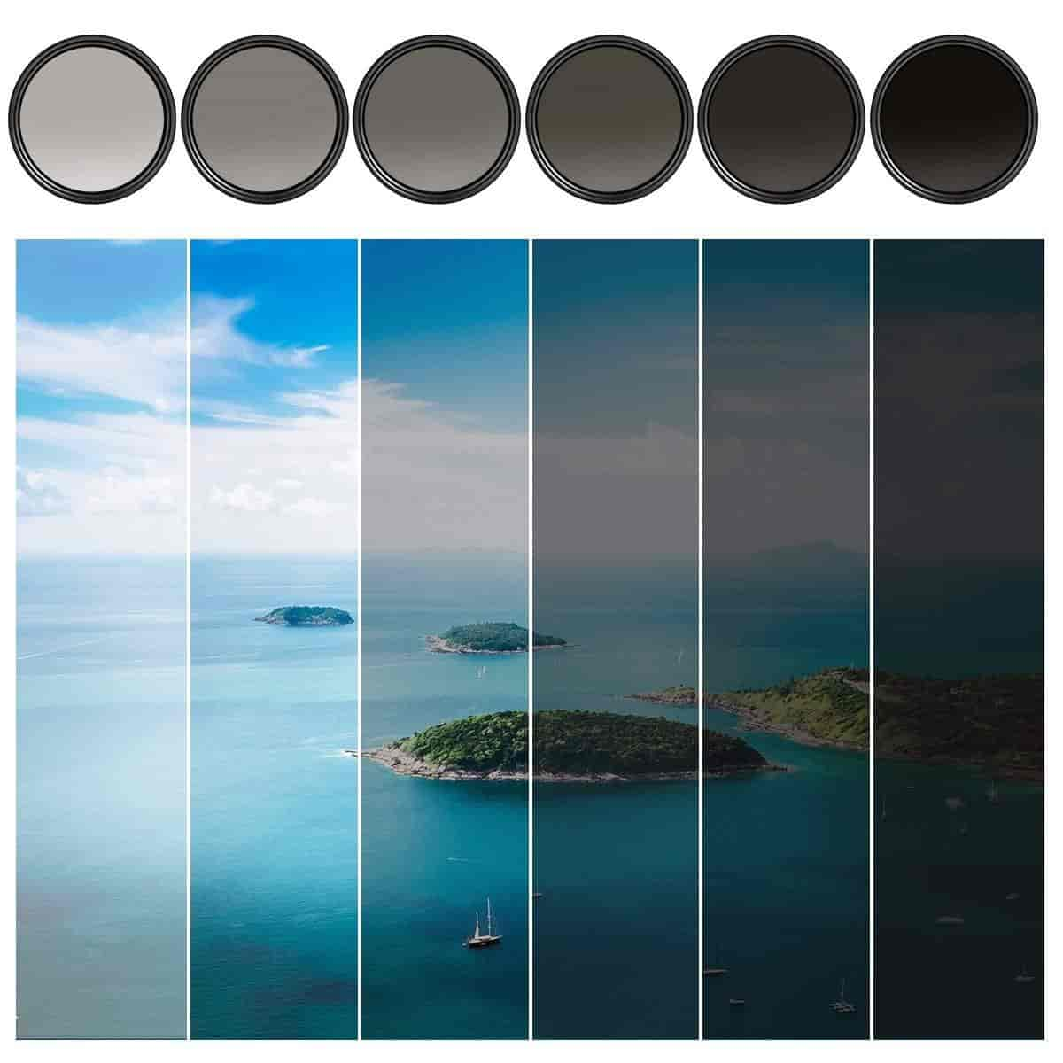 Löschdecke Test Lenzen, Filters K&f Concept 58mm Slim Variable Fader Nd2-nd400 Neutral Density Nd Filter Adju... Co