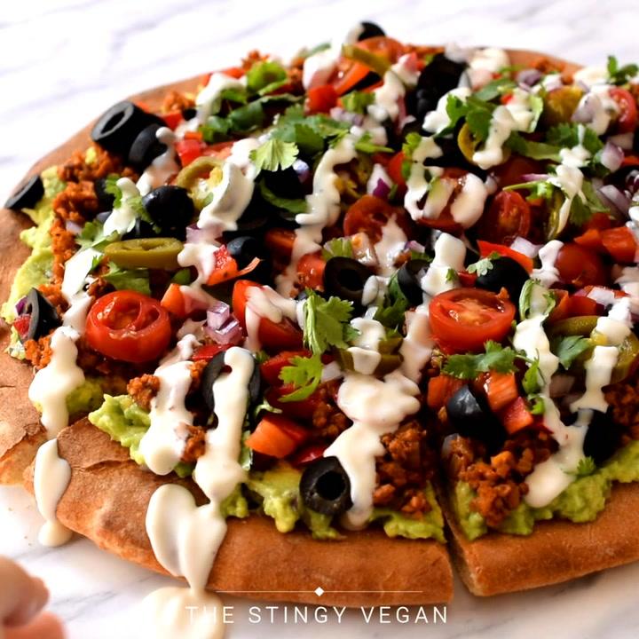 Vegan Nacho Pizza The Stingy Vegan