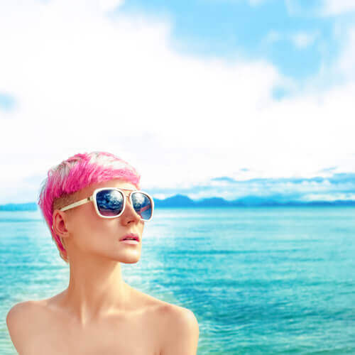 Short Edgy Pink Pixie Hairstyle