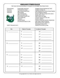 Geologic Time Scale 6th - 8th Grade Worksheet | Lesson Planet