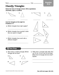 Classifying Triangles By Angles Worksheet 4th Grade - 4th ...