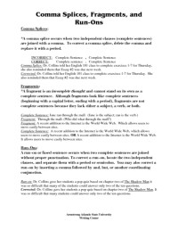 Fragments And Run Ons Worksheet Free Worksheets Library ...