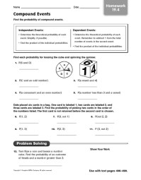 Probability Worksheets Fifth Grade Math - probability ...