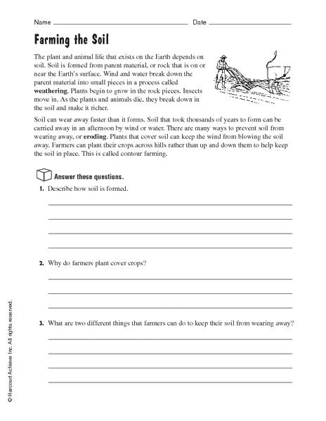 3rd Grade  Soil Worksheets For 3rd Grade