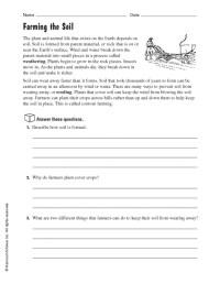 3rd Grade  Soil Worksheets For 3rd Grade - Printable ...