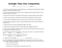 Geologic Time Worksheet Free Worksheets Library | Download ...