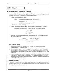 All Worksheets  Potential And Kinetic Energy Worksheets ...