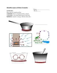 Methods Of Heat Transfer Worksheet Free Worksheets Library ...